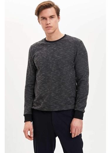 DeFacto Regular Fit Sweatshirt Antrasit